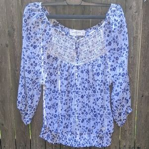 Abercrombie and Fitch Floral Boho Peasant Blouse S